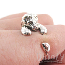 Lion Shaped Animal Wrap Around 925 Sterling Silver Ring