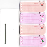 Little Pink Piggy Piglet Shaped Animal Themed Memo Post-it Sticky Note Pad | DOTOLY