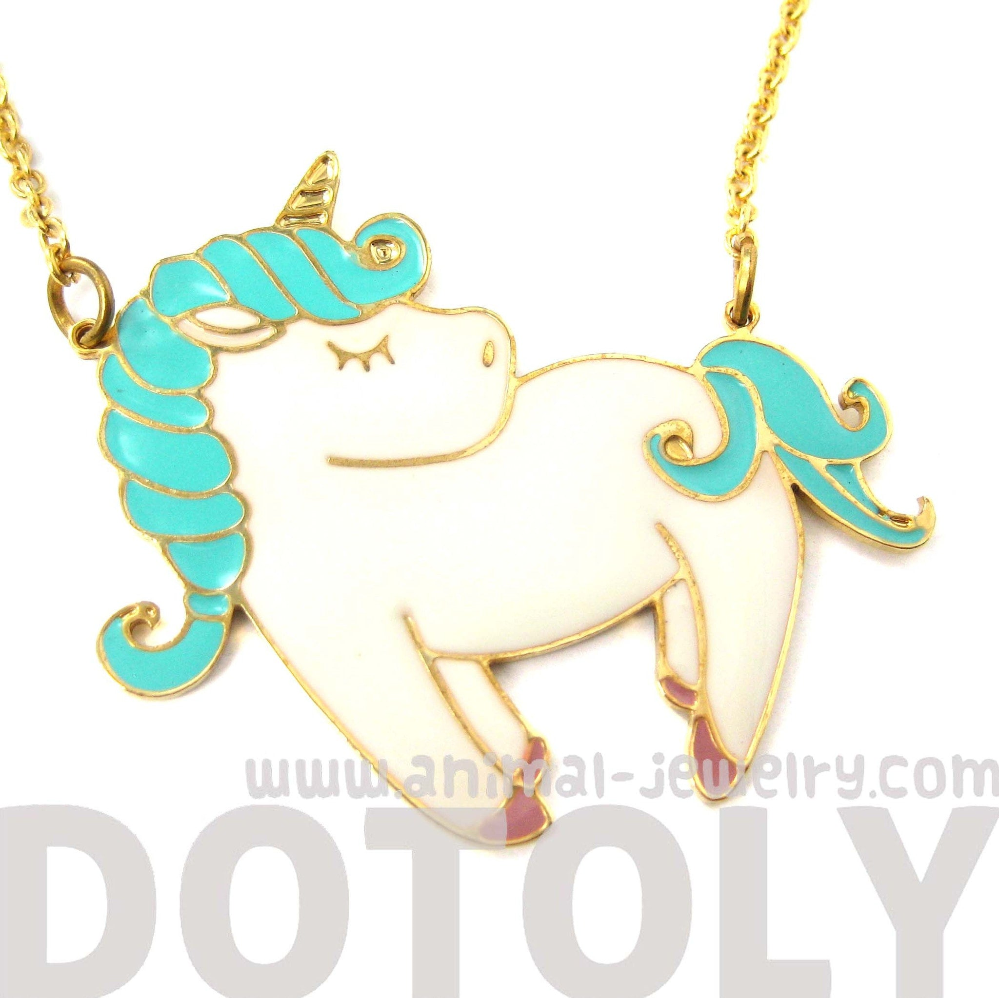 little-pony-horse-shaped-animal-pendant-necklace-in-white-and-turquoise-limited-edition