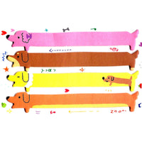 Long Dachshund Puppy Dog Shaped Animal Memo Post-it Sticker Marker Tab