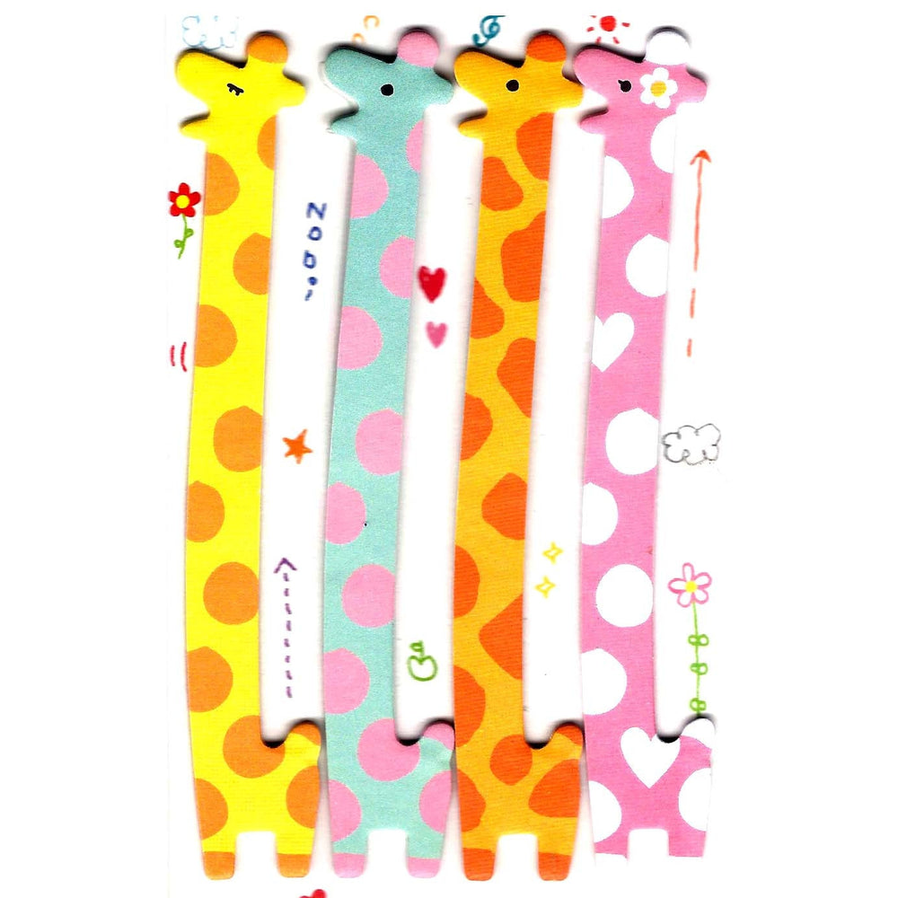 Long Giraffe Shaped Animal Themed Memo Post-it Sticker Marker Pad