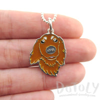 Long Haired Dachshund Dog Shape Animal Pendant Necklace