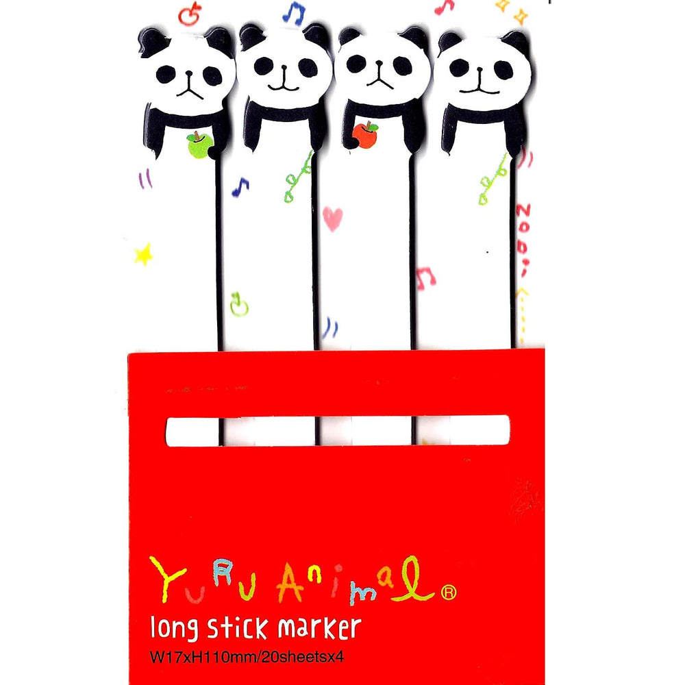 Long Panda Bear Shaped Animal Themed Memo Post-it Sticker Marker Pad