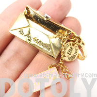 Love Notes Letter Envelope Shaped Pendant Necklace | Limited Edition