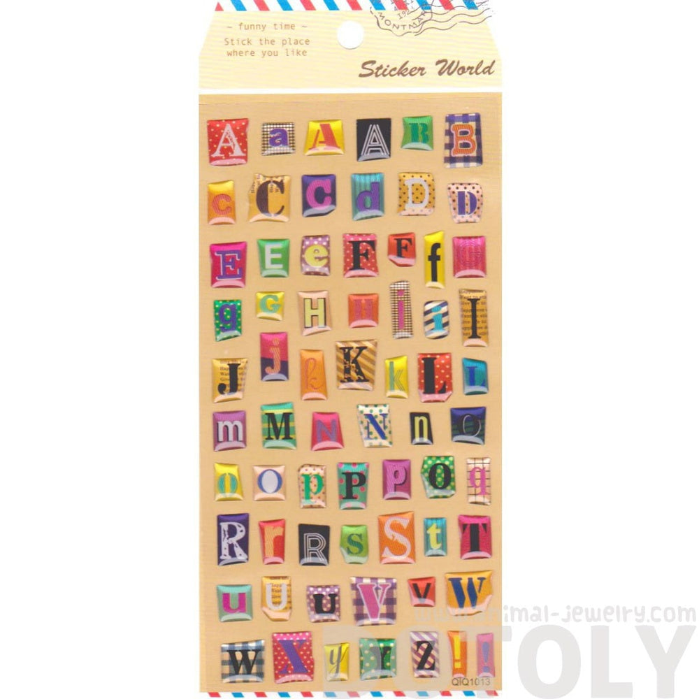 Magazine Cut Out Alphabet ABCs Shaped Typography Stickers for Scrapbooking and Decorating | DOTOLY