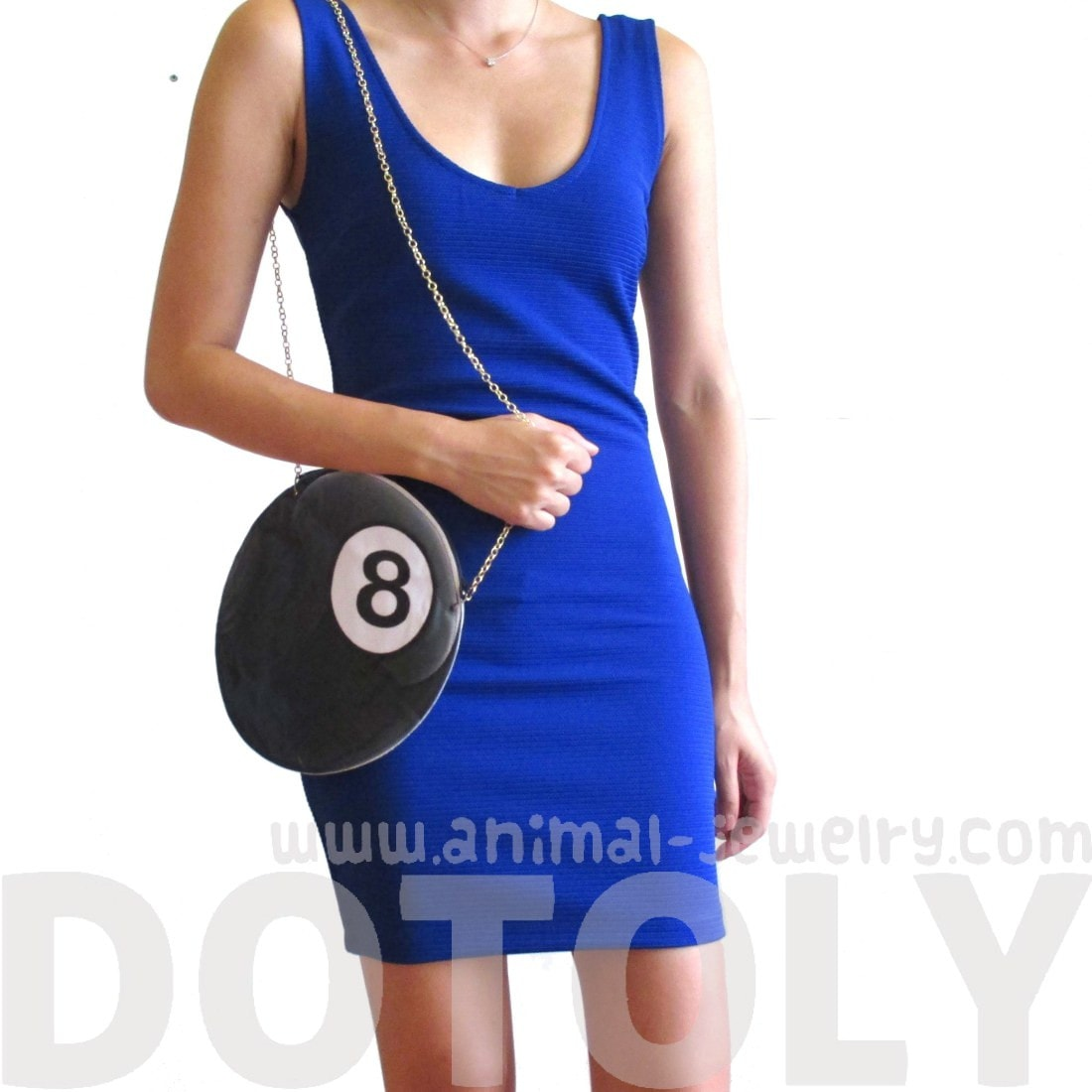 Magic Eight Ball Pool Shaped Vinyl Cross Body Bag