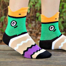 mallard-wild-duck-bird-shaped-animal-short-cotton-socks-for-women