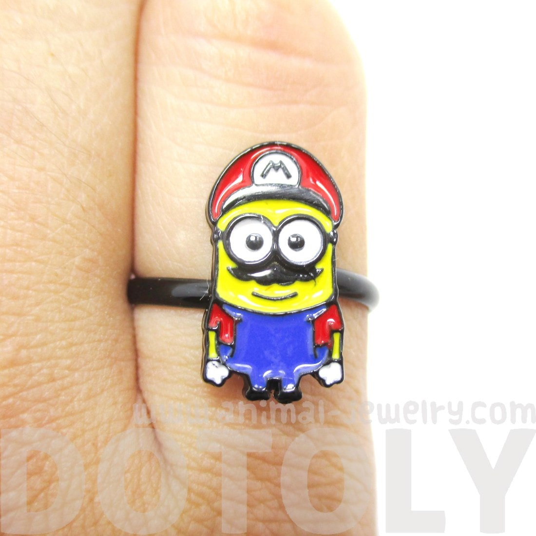 Mario The Minion Despicable Me Nintendo Inspired Ring