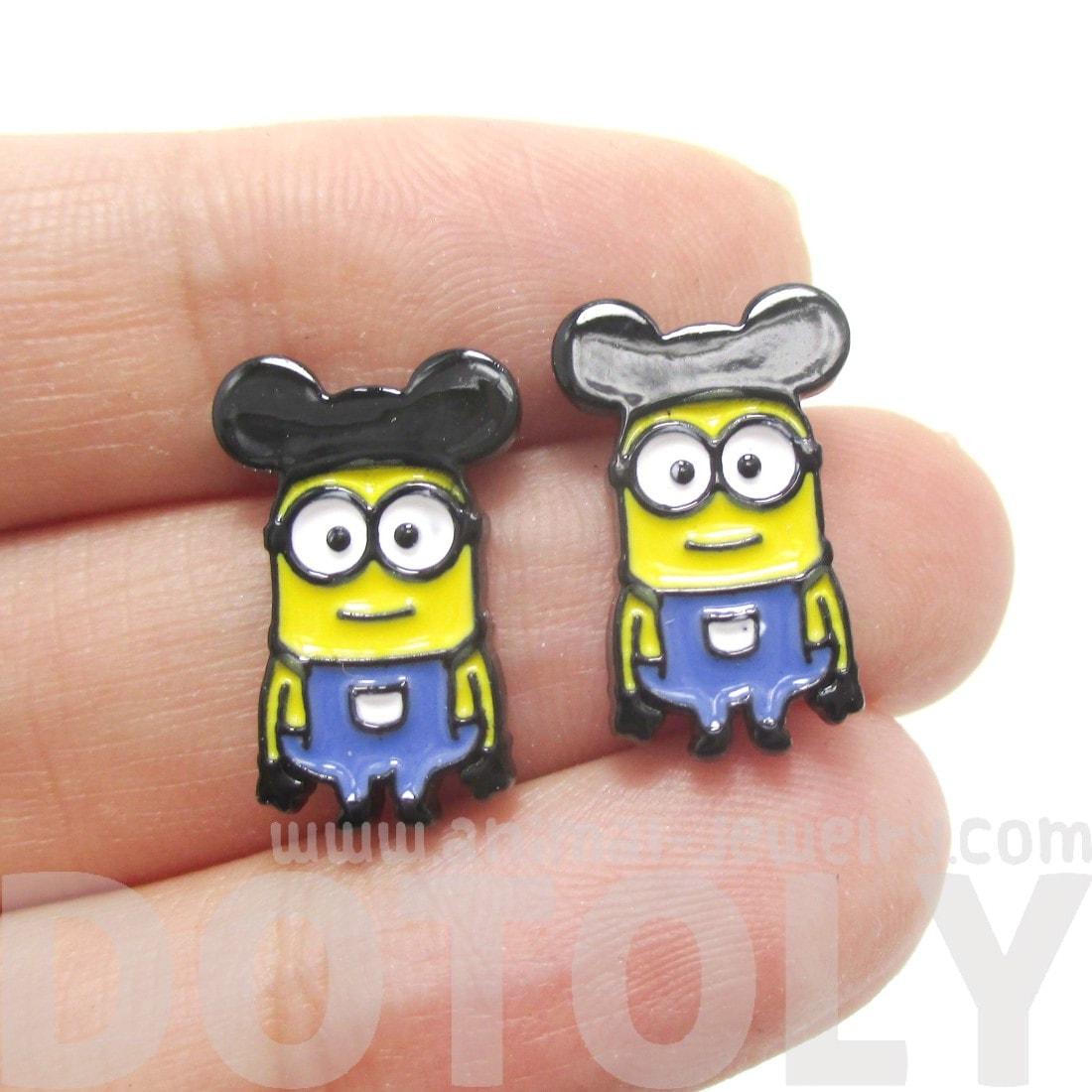 Mickey Mouse Minions From Despicable Me Stud Earrings