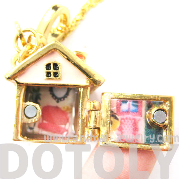 Miniature Dollhouse Necklace It Opens Up Limited
