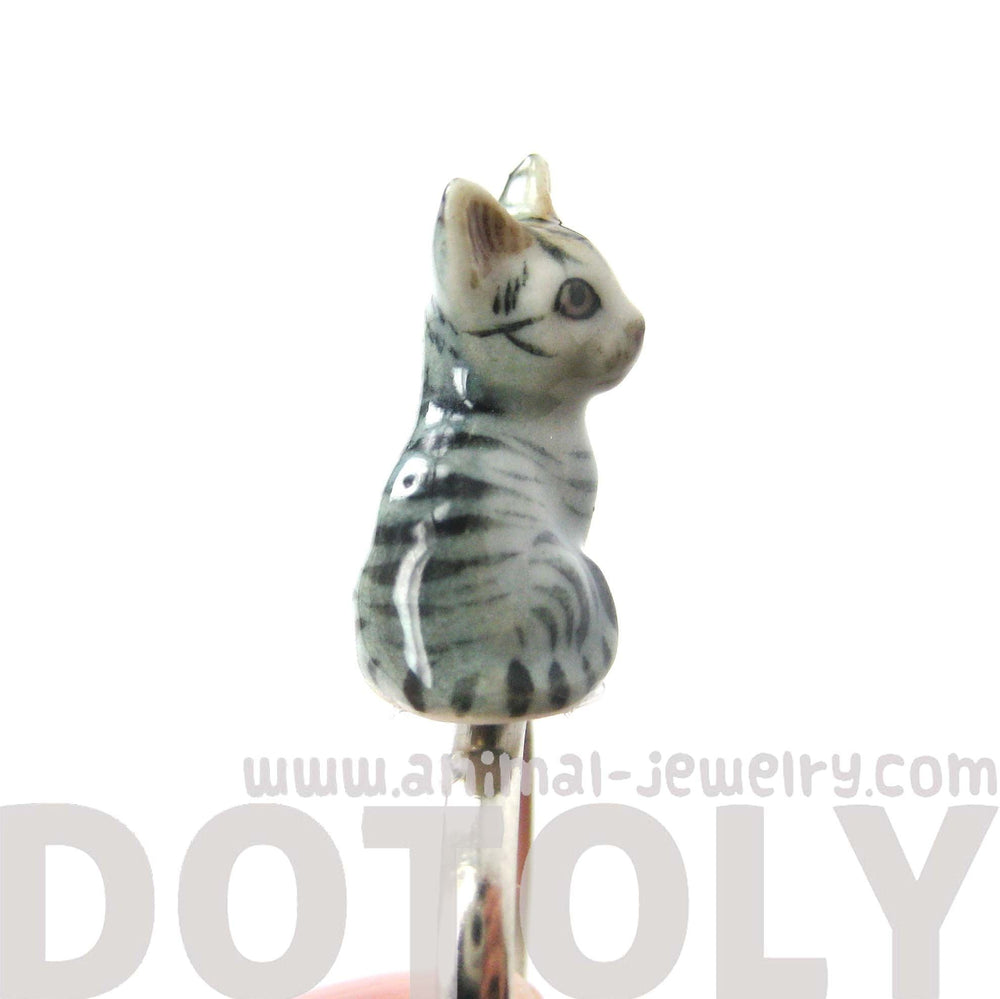 miniature-grey-and-black-striped-kitty-cat-porcelain-ceramic-animal-adjustable-ring-handmade