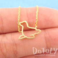 Minimal Sea Lion Seal Outline Shaped Charm Necklace in Gold | DOTOLY