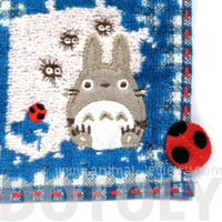 My Neighbor Totoro Theme Patchwork Embroidered Handkerchief Face Towel