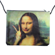 Mona Lisa Duckface Selfie Print Cross Body Bag | DOTOLY