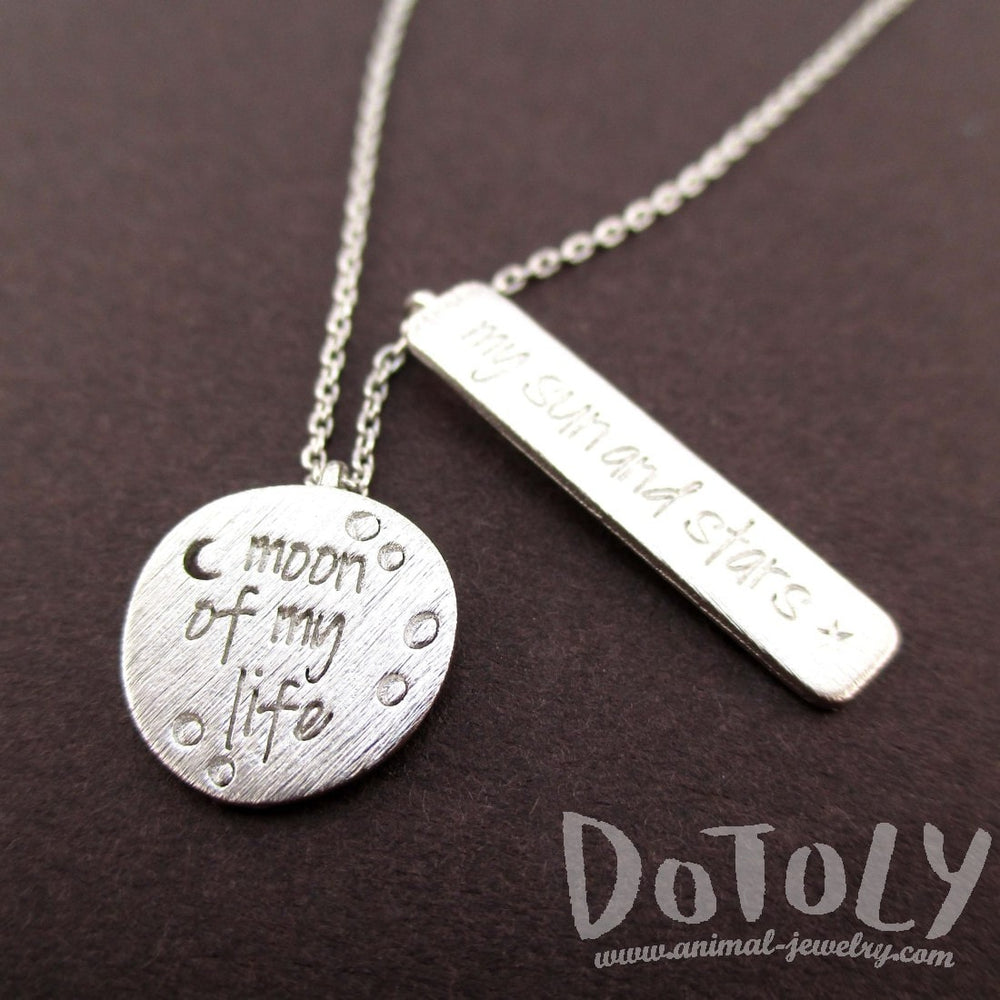 Moon of my Life, My Sun and Stars Game of Thrones Quote Charm Necklace in Silver | DOTOLY | DOTOLY
