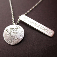Moon of my Life, My Sun and Stars Game of Thrones Necklace in Silver