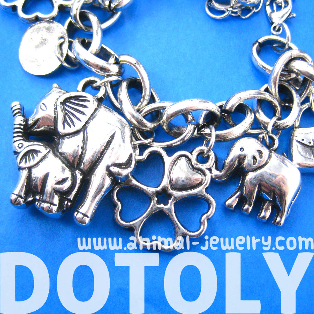 mother-and-baby-elephant-floral-charm-bracelet-in-silver