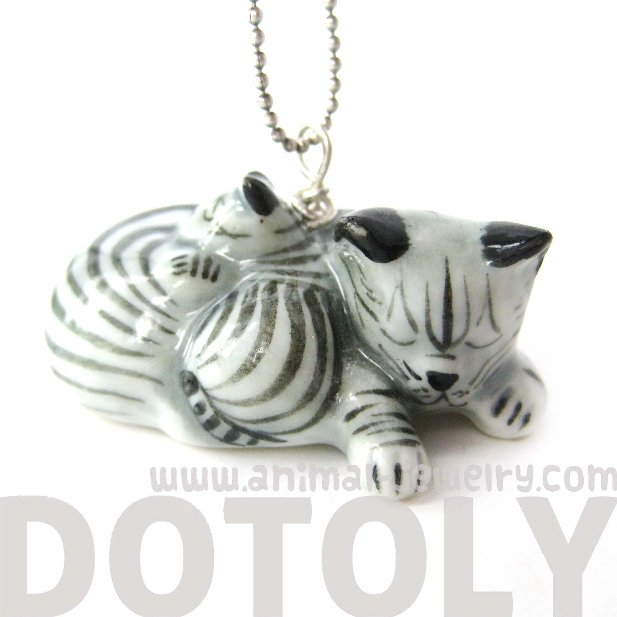 mother-and-baby-kitty-cat-porcelain-ceramic-animal-pendant-necklace-handmade