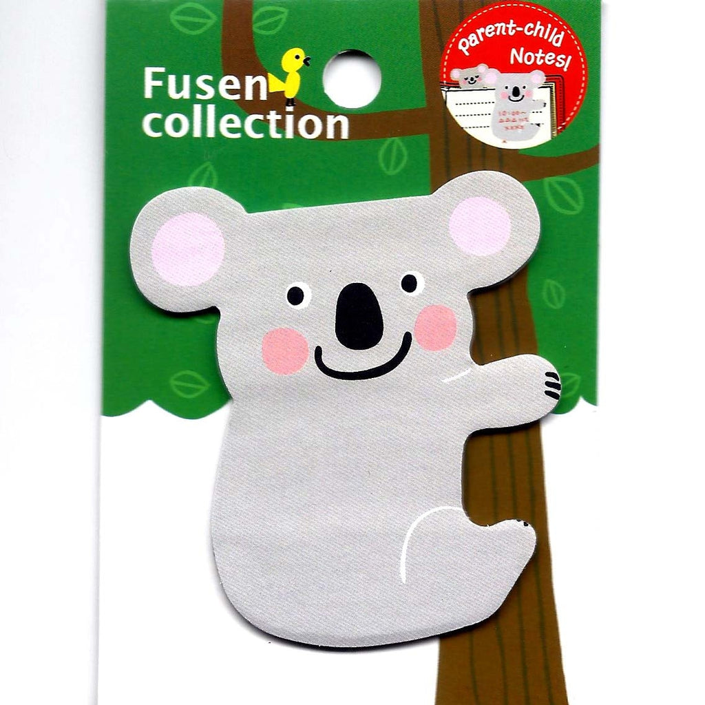 Mother And Baby Koala Bear Shaped Memo Post It Sticky Note Pad