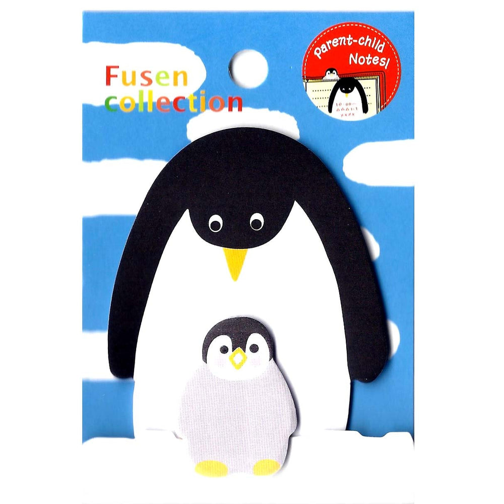 Mother and Baby Penguin Shaped Animal Themed Memo Pad Post-it Sticky Note Pad | DOTOLY