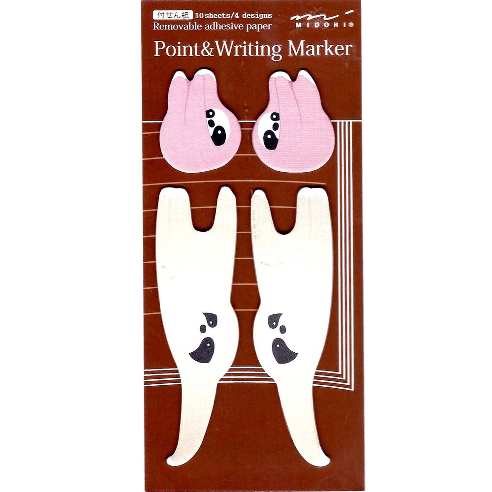 Mother and Baby Sloth Shape Animal Memo Post-it Adhesive Bookmark Tabs