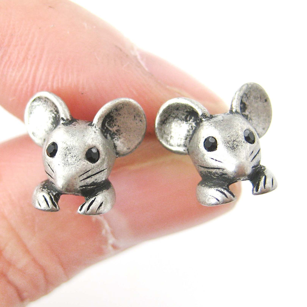 mouse-mice-realistic-animal-stud-earrings-in-silver-animal-jewelry