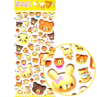 Muffin Bread Shaped Bear Shaped Puffy Stickers for Scrapbooking