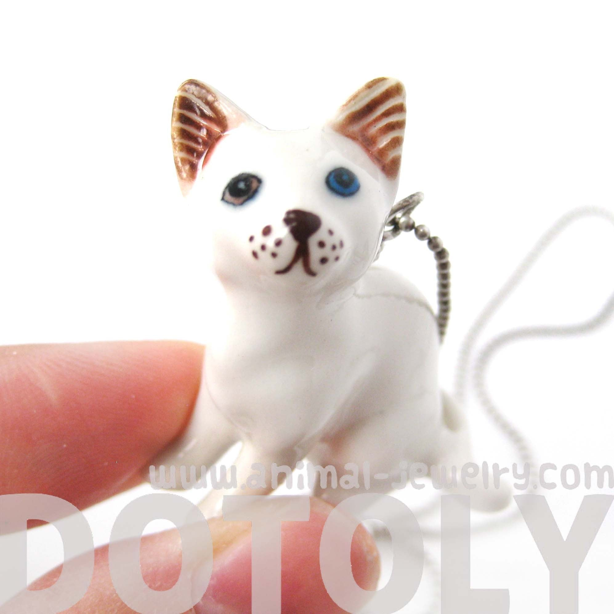 multi-colored-odd-eyed-white-kitty-cat-porcelain-ceramic-animal-pendant-necklace-handmade