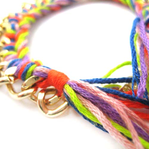 braided-rainbow-colored-chain-linked-bracelet-dotoly