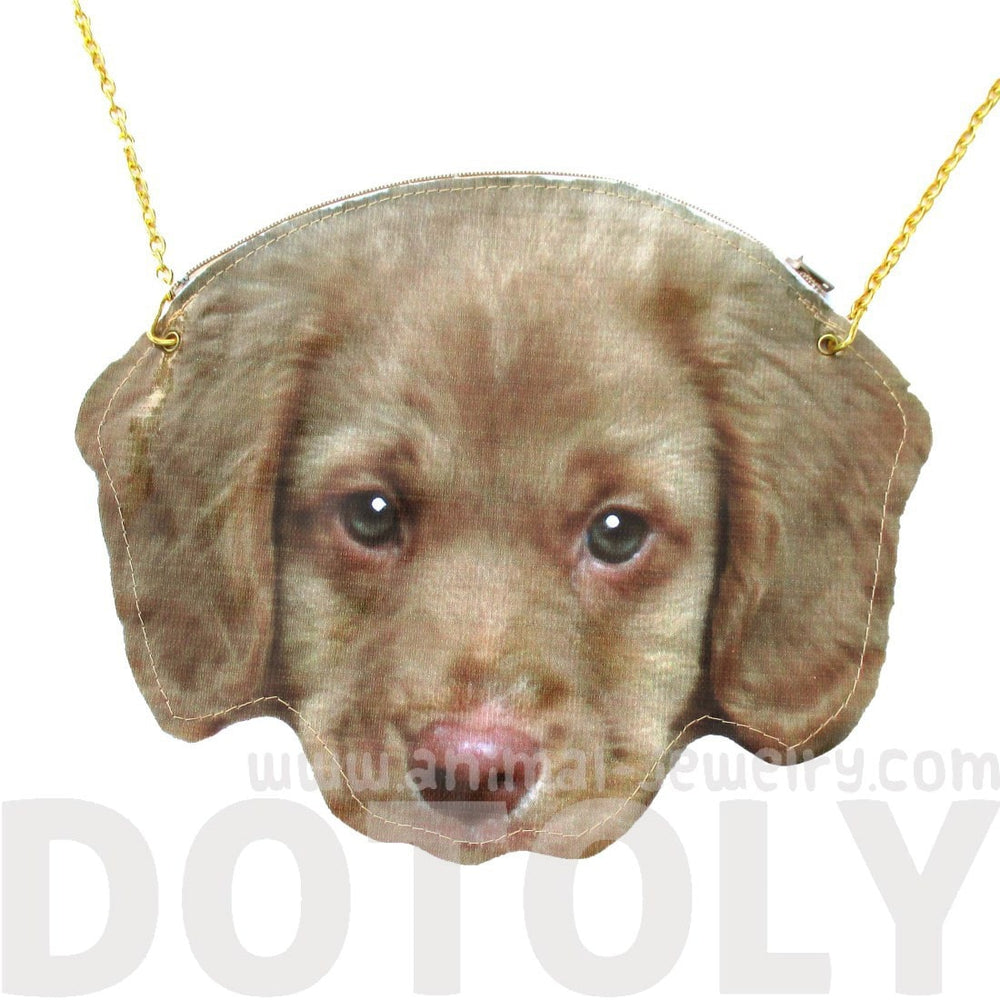 Nova Scotia Duck Tolling Retriever Puppy Face Shaped Cross Body Bag