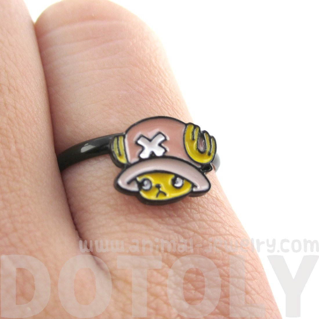 One Piece Tony Tony Chopper Reindeer Adjustable Ring