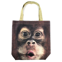 Orangutan Monkey Baby Face Print Tote Shopper Bag
