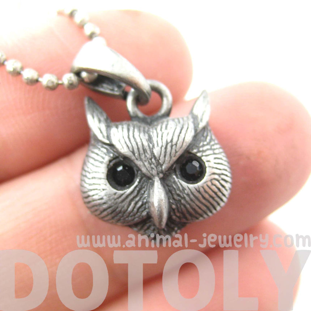 owl-bird-animal-charm-necklace-in-silver-animal-jewelry