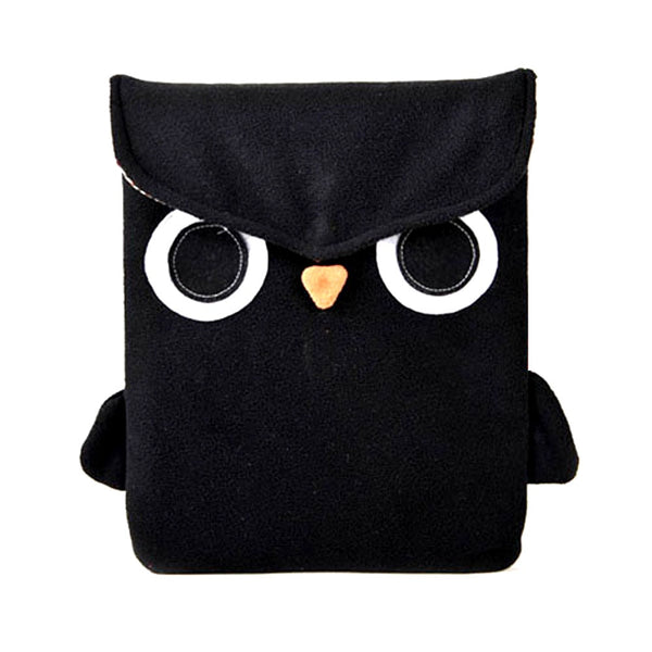 owl-bird-animal-themed-fully-lined-ipad-sleeve-case-in-black-fleece
