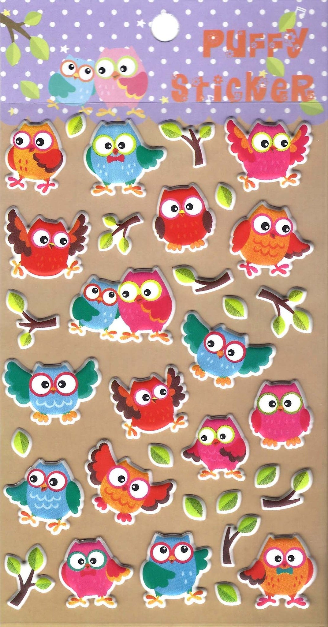 owl-bird-animal-themed-puffy-stickers-for-scrapbooking-and-decorating