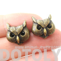 owl-bird-realistic-animal-stud-earrings-in-brass-animal-jewelry