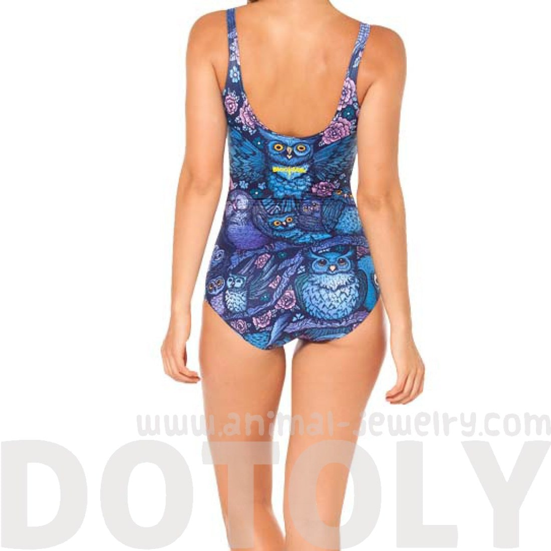 Owl Birds Floral Animal Digital Print Scoop Neck Sleeveless Bodysuit