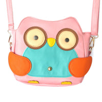 Owl Shaped Bird Themed Cross body Shoulder Bag for Women in Light Pink