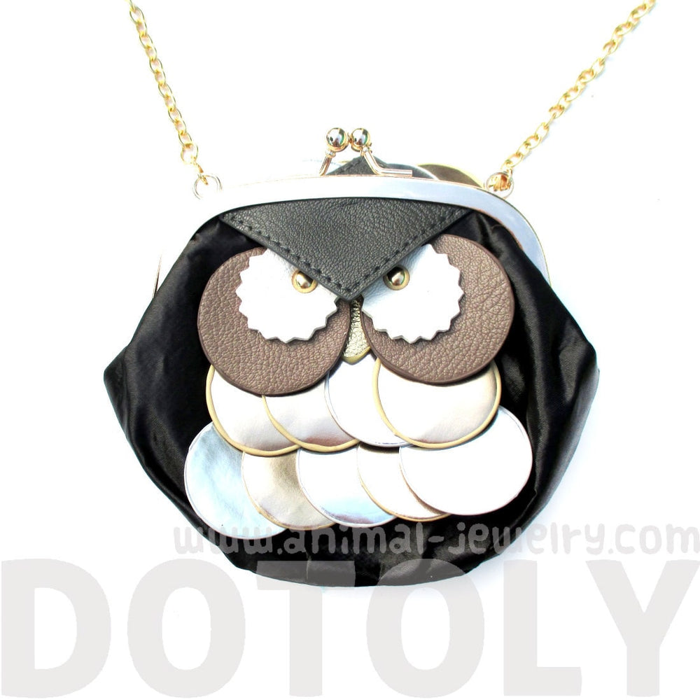 Owl Shaped Animal Themed Coin Purse Cross body Shoulder Bag for Women