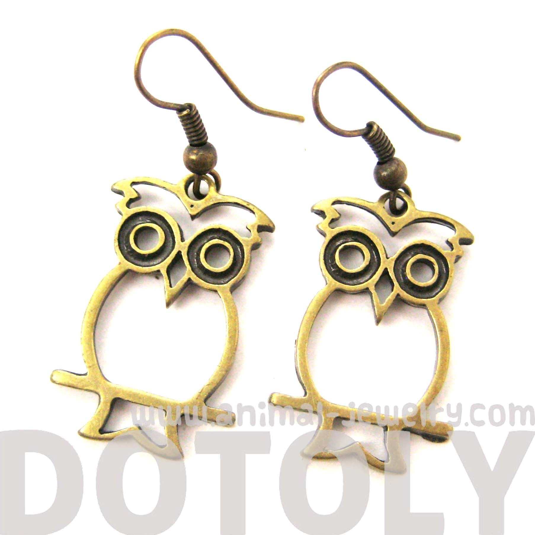 owl-shaped-cut-out-animal-dangle-earrings-in-brass-animal-jewelry