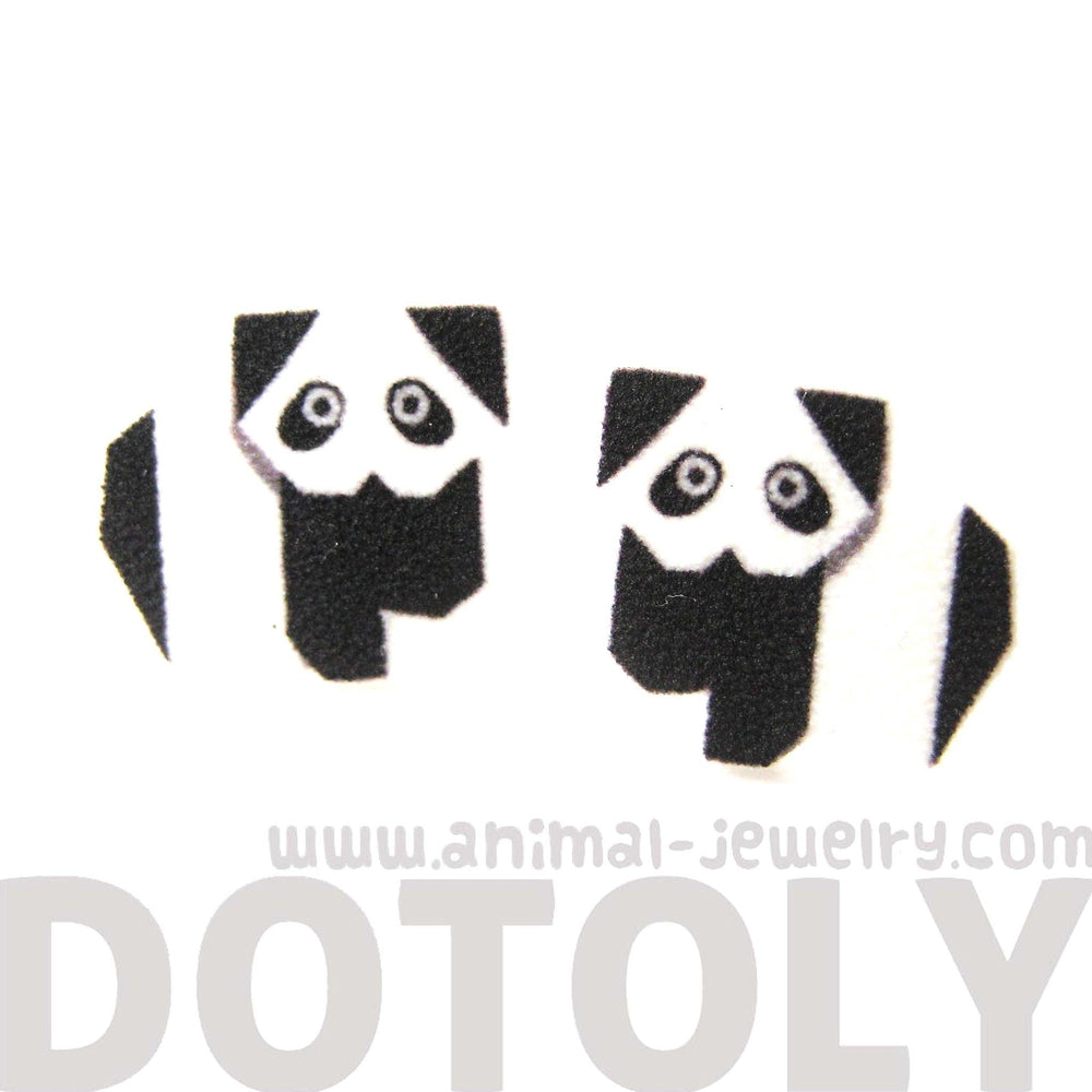 panda-bear-animal-illustration-stud-earrings-handmade-shrink-plastic