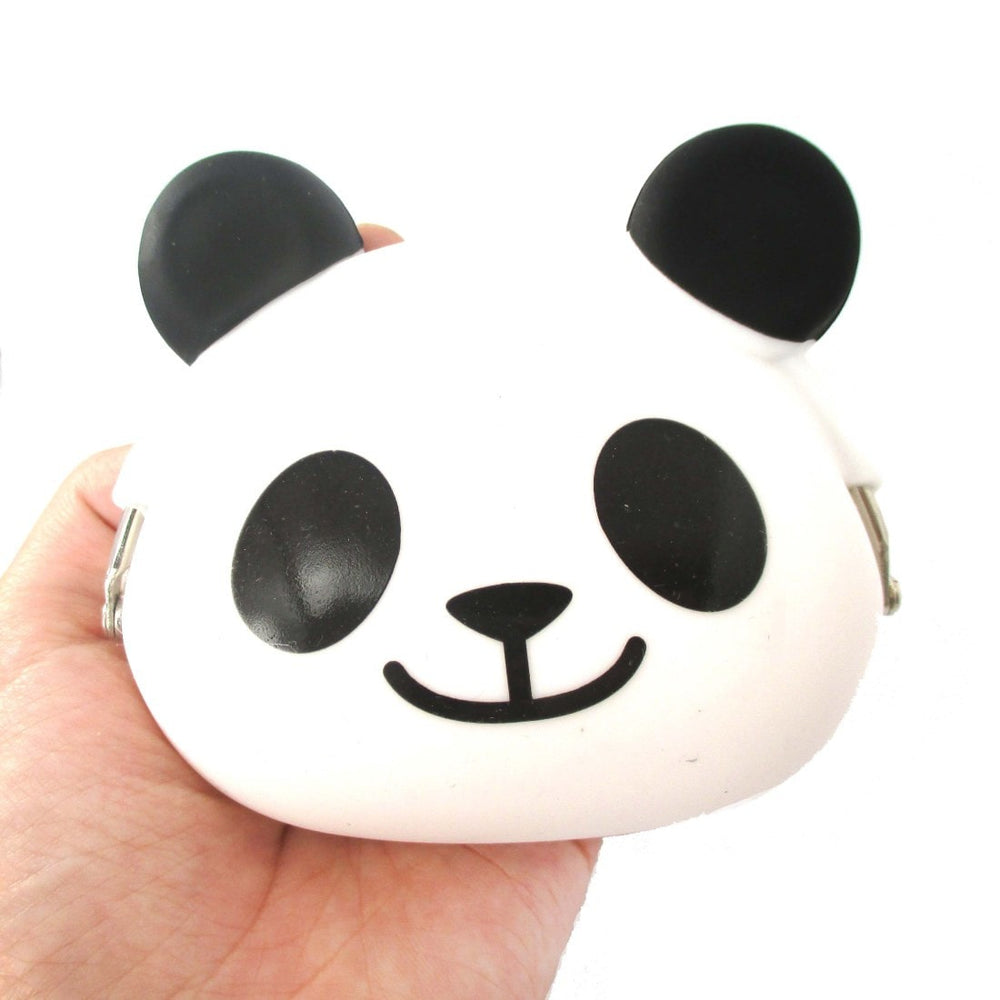 Panda Bear Shaped Mimi Pochi Animal Friends Silicone Clasp Coin Purse Pouch