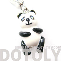 Panda Bear Teddy Animal Pendant Necklace | Limited Edition Animal Jewelry | DOTOLY