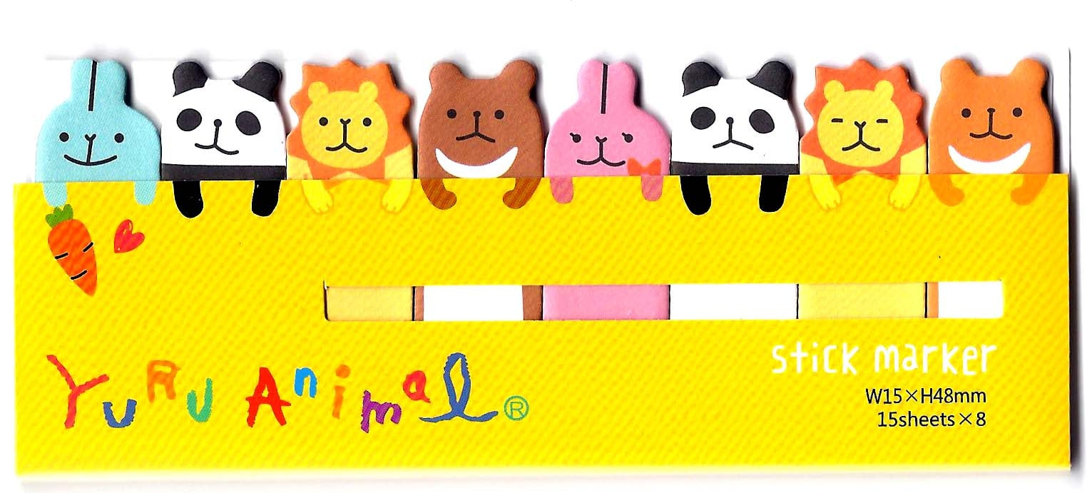 Panda Bunny Lion Animal Themed Memo Pad Post-it Index Tab Sticky Bookmarks