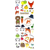 Panda Teddy Bear and Foxes Shaped Animal Puffy Scrapbooking Stickers