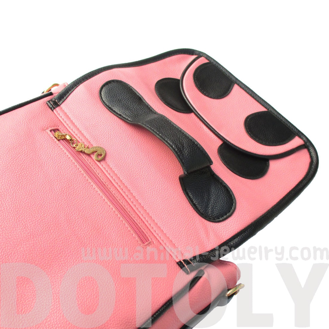 Panda Bear Animal Themed Cross body Shoulder Messenger Bag in Pink