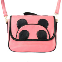 Panda Teddy Bear Animal Themed Cross body Shoulder Bag in Pink for Women | DOTOLY