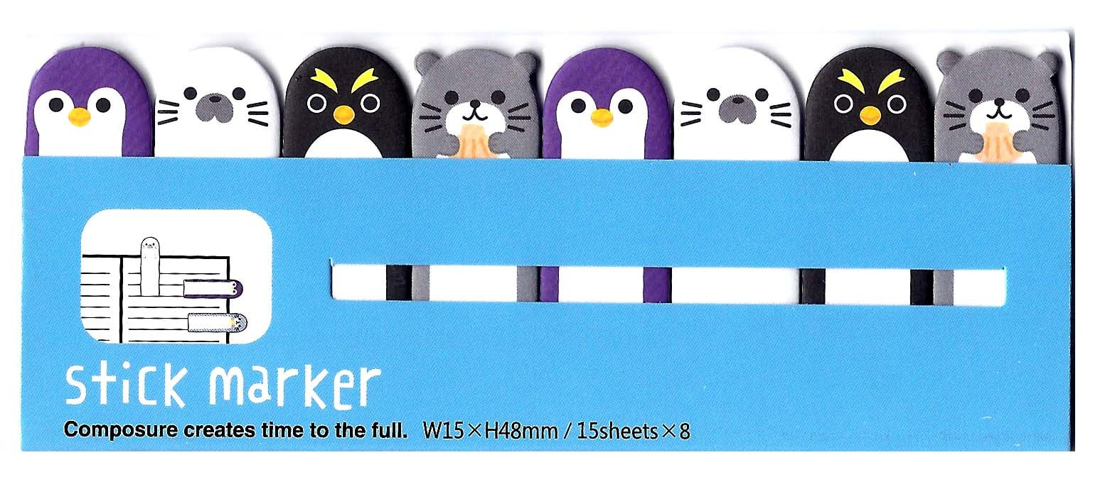 penguin-shaped-animal-themed-memo-pad-post-it-index-tab-sticky-bookmarks