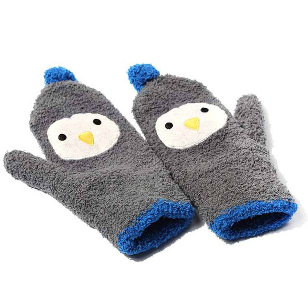 Penguin Shaped Animal Themed Soft Glove Mittens for Women | DOTOLY