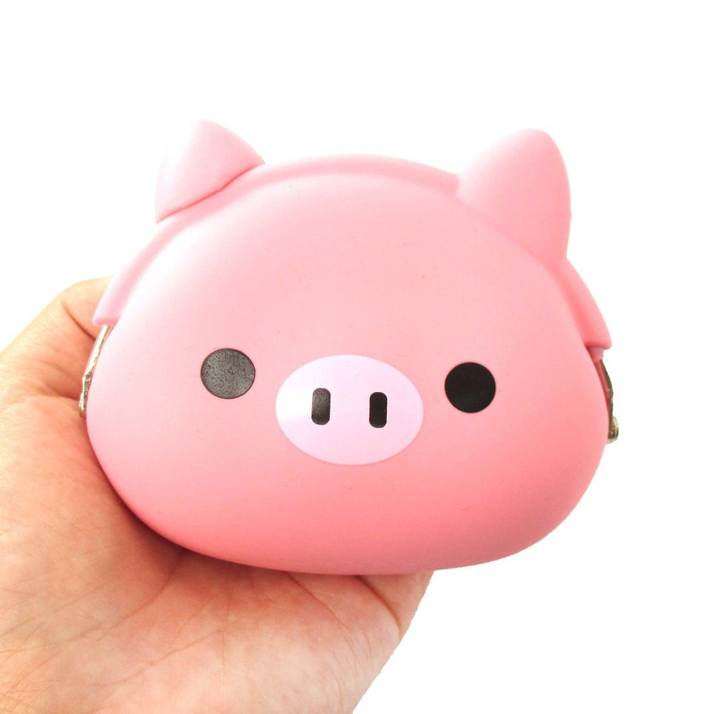 Piglet Pig Shaped Mimi Pochi Animal Friends Silicone Clasp Coin Purse